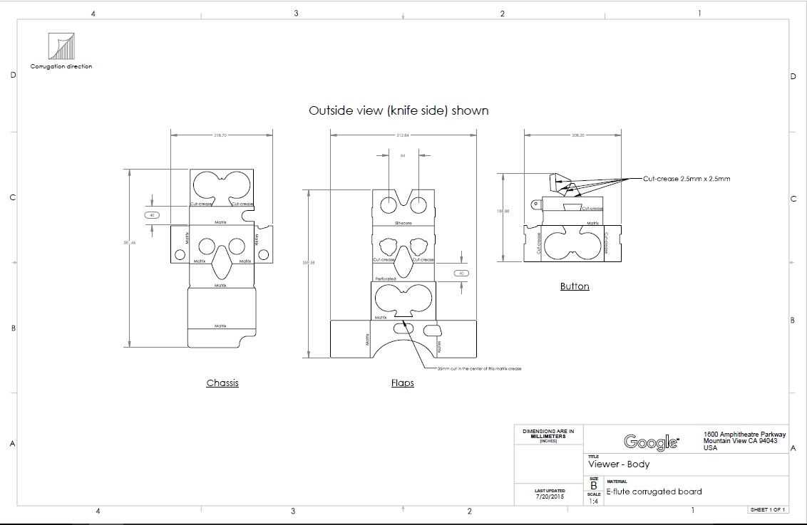 Fabrica tus propias google cardboard origen for Planos google