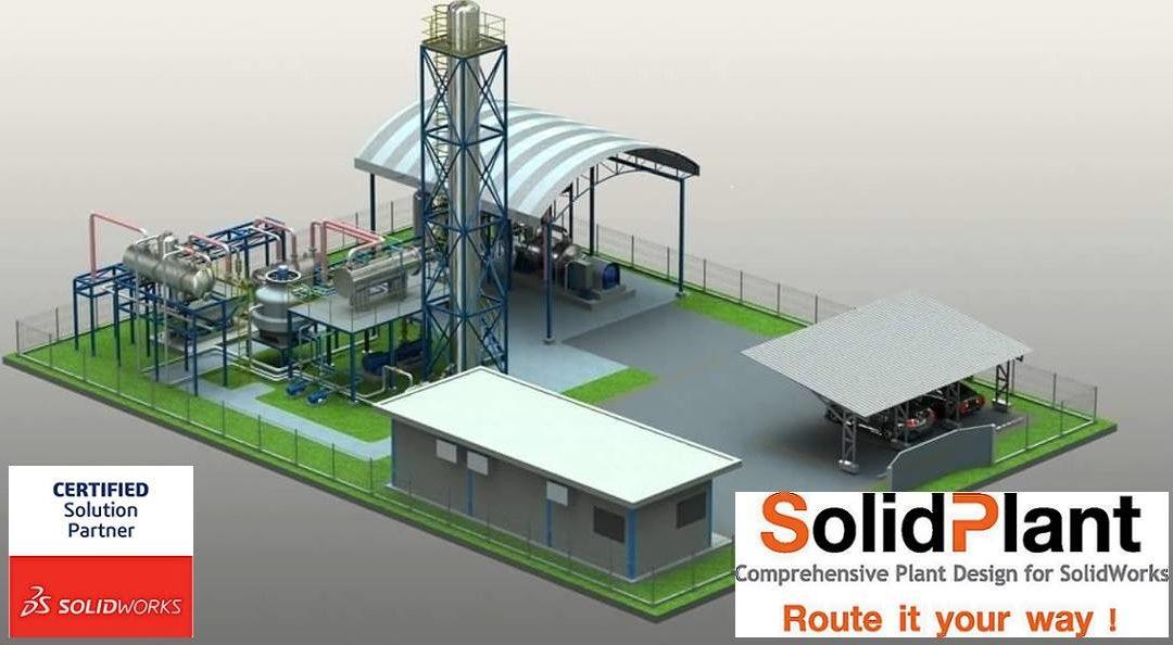 Diseña plantas industriales de forma fácil con SolidPlant