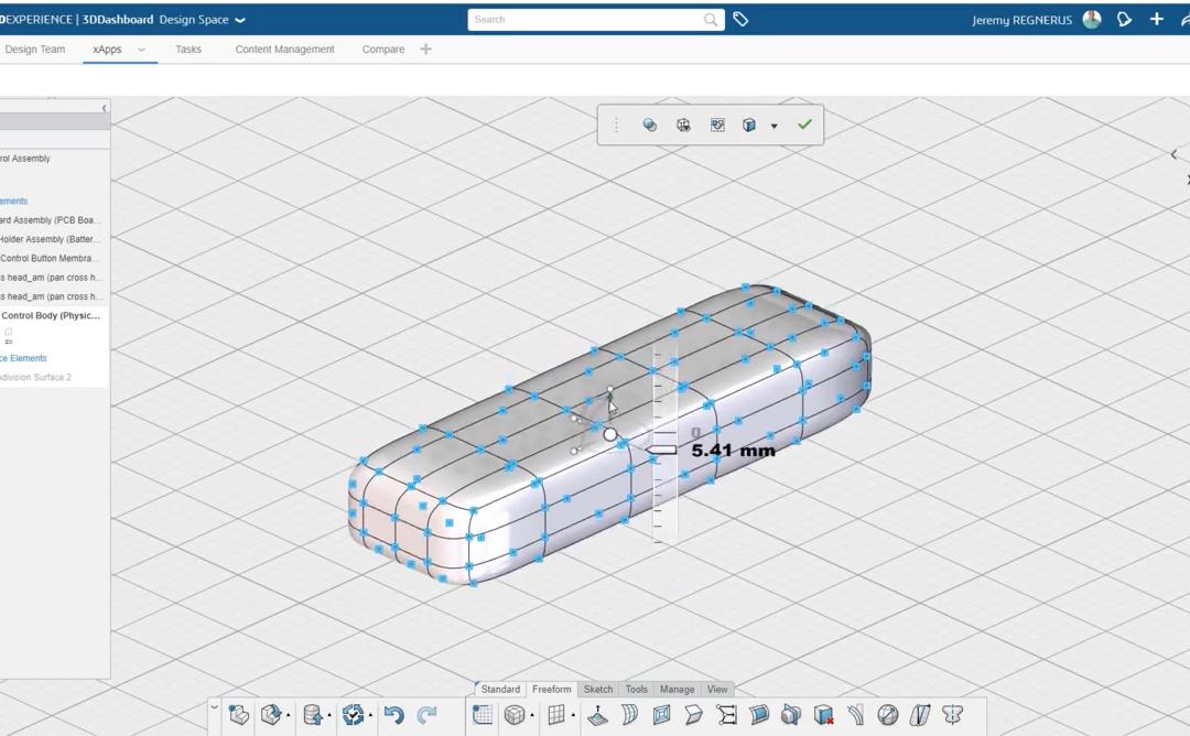 08 – xShape Modelado por Subdivisión SOLIDWORKS 3DExperience