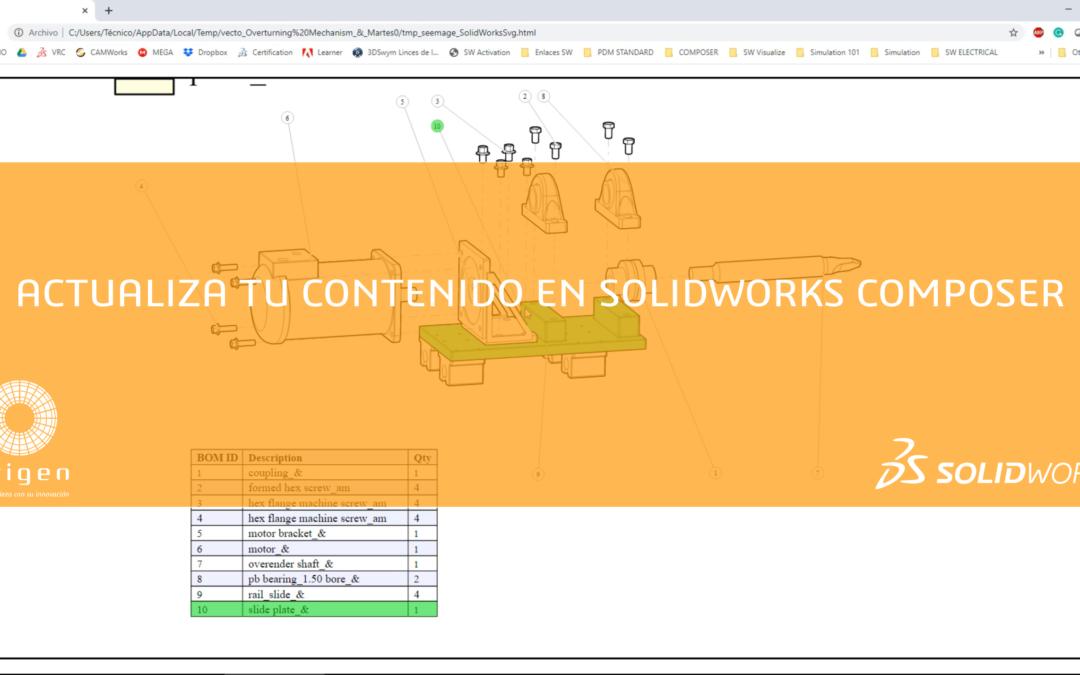 Actualiza la documentación técnica en SOLIDWORKS Composer [Vídeo]